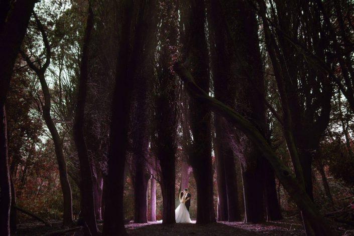 Φωτογραφία γάμου στο δάσος