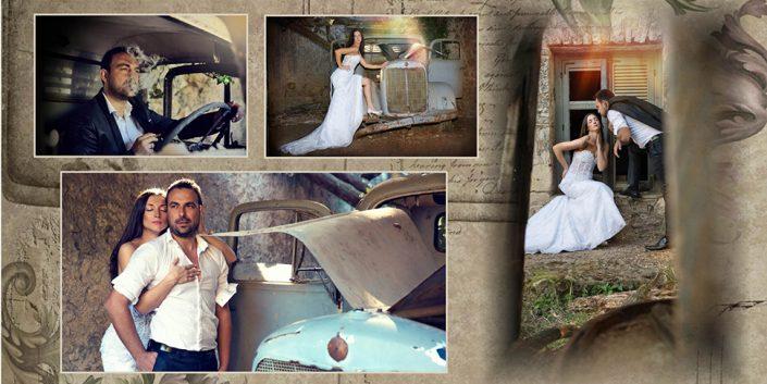Άλμπουμ γάμου στο Μαρούσι vintage