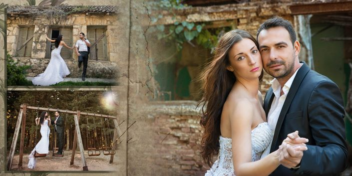Άλμπουμ γάμου στην Πάρο vintage